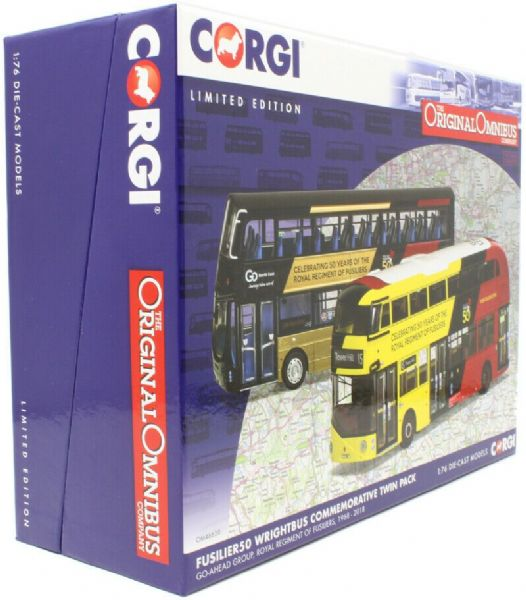 Corgi Om46620 New Routemaster + Gemini Bus 50 Years Royal Regiment Fusiliers